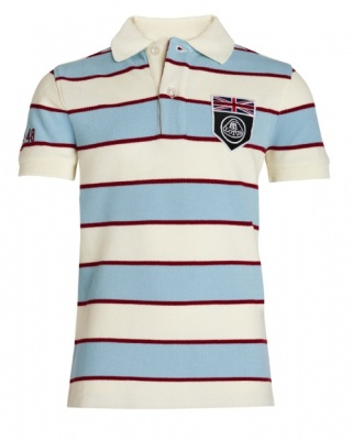 Детская рубашка-поло Lotus Childs UK Flag Horizontal Stripe Polo Shirt Angel