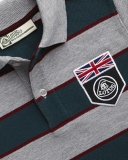 Детская рубашка-поло Lotus Childs UK Flag Horizontal Stripe Polo Shirt Grey, артикул 5055421524319