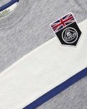 Детская футболка Lotus Childs UK Flag Horizontal Panel T-shirt Grey, артикул 5055421524364