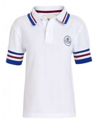 Детская рубашка-поло Lotus Childrens Retro Polo Shirt White