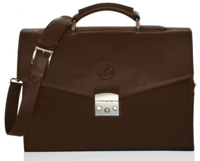 Портфель Lotus Leather & Nylon Briefcase Brown