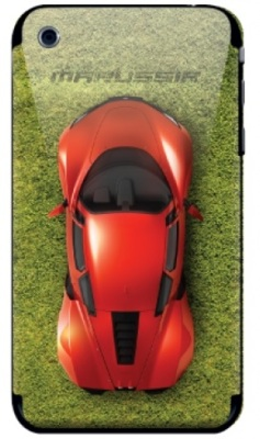 Наклейка на iPhone 3 Marussia Grass Road Red