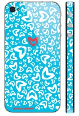 Наклейка на iPhone 4 Marussia Pattern 2 Blue