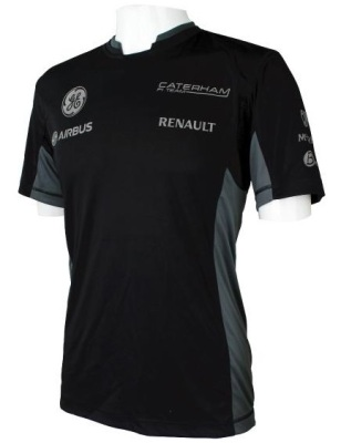 Мужская футболка Caterham 2013 Microfibre Logo T-shirt Men's - Black