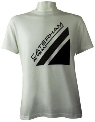 Мужская футболка Caterham 2013 T-shirt Men - Flock Caterham F1 Team logo - White