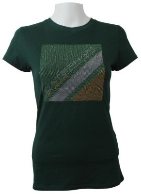 Женская футболка Caterham 2013 T-shirt Women - Silver stud Caterham F1 Team logo - Green