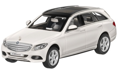 Модель автомобиля Mercedes C-Class Estate, Exclusive, Scale 1:43, Designo Diamond White Bright
