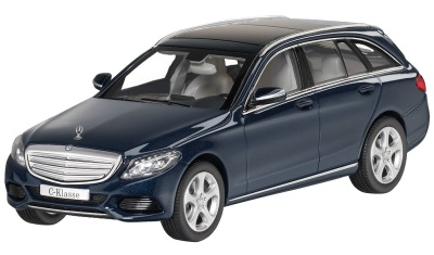 Модель автомобиля Mercedes C-Class Estate, Exclusive, Scale 1:43, Cavansite Blue