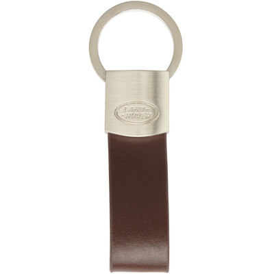 Брелок Land Rover Leather Loop Keyring Brown