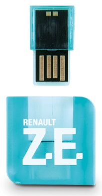 Флешка Renault Zoe USB Key Blue