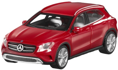 Модель автомобиля Mercedes GLA-Class, Scale 1:87, Jupiter Red