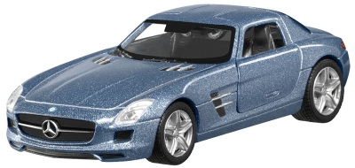 Инерционная модель автомобиля Mercedes SLS AMG 2010 Coupé C197 Pullback, Scale 1:43