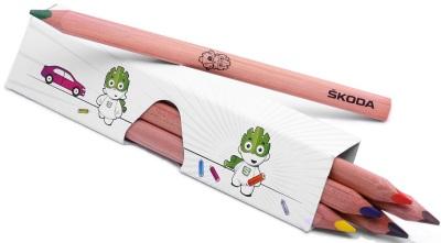 Набор цветных карандашей Skoda Children's <em>подарки аксессуары для авто</em> coloured pencils