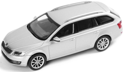 Модель автомобиля Skoda Model Octavia Combi A7 1:43 silver brilliant metallic