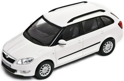 Модель автомобиля Skoda Model Fabia Combi (facelift) – 1:43 White
