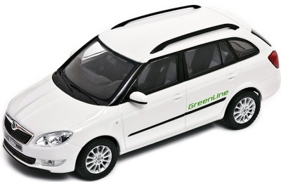 Модель автомобиля Skoda Model Fabia Combi GreenLine 1:43 candy white