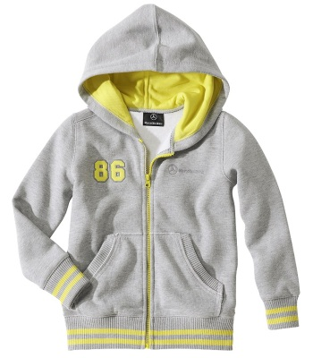 Детская толстовка Mercedes Children's Sweat Jacket, Grey