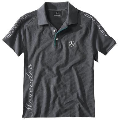 Мужская рубашка-поло Mercedes Poloshirt Men's, Graphit