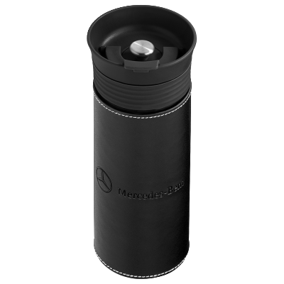 Термокружка Mercedes Thermo Mug Black Leather
