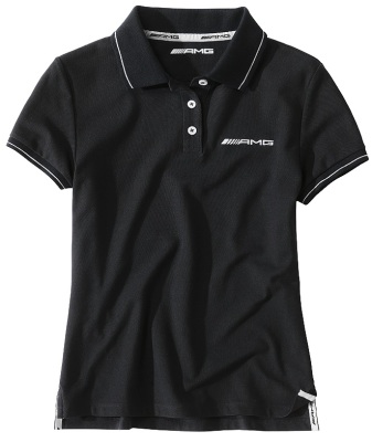 Женское поло Mercedes Women's Polo Shirt AMG Black