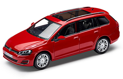 Модель автомобиля Volkswagen Golf VII Variant, Scale 1:43, Tornado Red