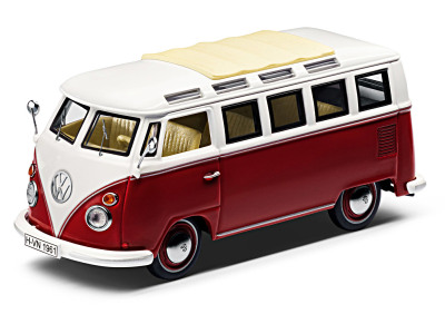 Модель автомобиля Volkswagen T1 Samba Van, Scale 1:43, Red/Cream