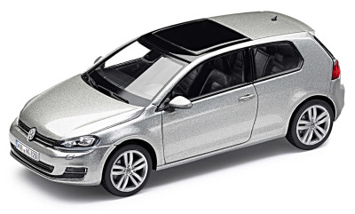 Модель автомобиля Volkswagen Golf VII 3D, Scale 1:43, Tungsten Silver Metallic