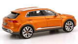 Модель автомобиля Volkswagen CrossBlue Coupé Concept, Scale 1:43, Gold Orange, артикул 000099300AE578