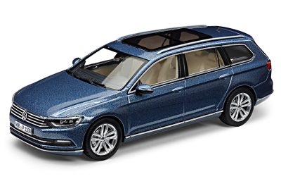 Модель автомобиля Volkswagen Passat Estate, Scale 1:43, Harvard Blue Metallic