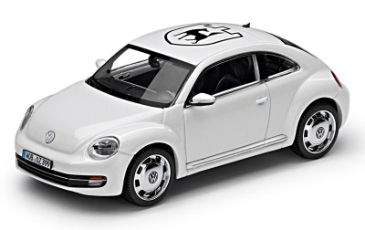 Модель автомобиля Volkswagen Beetle -Coat of Arms- Decorative Film, Scale 1:43, Candy White