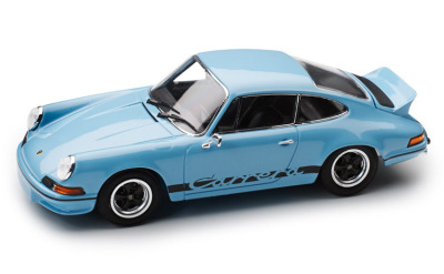 Модель автомобиля Porsche 911 Carrera RS 2.7 (1973), 1:43 Scale, Gulf Blue