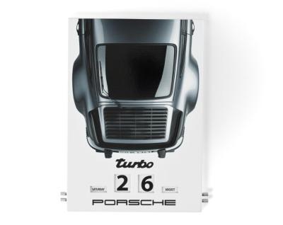 Вечный календарь Porsche Enamel Calendar Porsche 911 Turbo