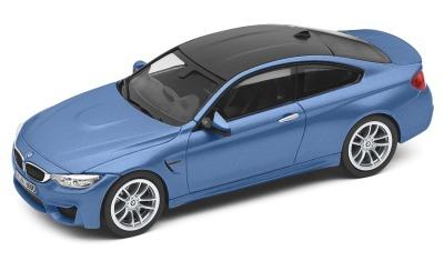 Модель автомобиля BMW M4 Купе (F82), Yas Marina Blue, Scale 1:43