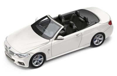 Модель автомобиля BMW 4 серии Кабриолет (F33), Alpine White, Scale 1:43