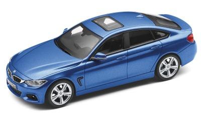 Модель автомобиля BMW 4 серии Гран Купе (F36), Estoril Blue, Scale 1:43