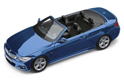 Модель автомобиля BMW 4 серии Кабриолет (F33), Estoril Blue, Scale 1:43