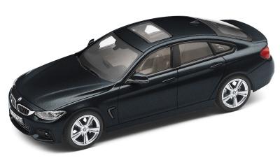 Модель автомобиля BMW 4 серии Гран Купе (F36), Carbon Black, Scale 1:43