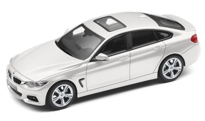 Модель автомобиля BMW 4 серии Гран Купе (F36), Glacier Silver, Scale 1:43