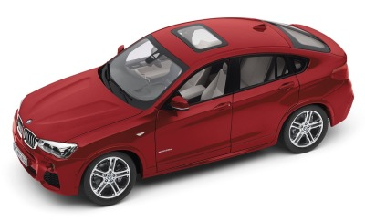 Модель автомобиля BMW X4 (F26), Melbourne Red, Scale 1:18