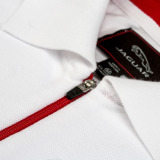 Мужская рубашка-поло Jaguar Men's F-Type Logo Polo Shirt - White, артикул JSS14FLWXS