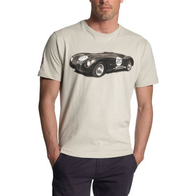 Мужская футболка Jaguar Men's Racing C-Type T-Shirt Beige