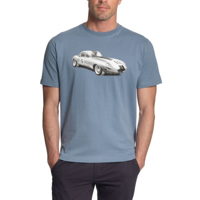 Мужская футболка Jaguar Men's Racing E-Type T-Shirt Blue