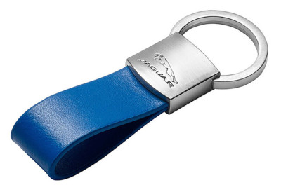 Брелок Jaguar Leather Loop Keyring Blue