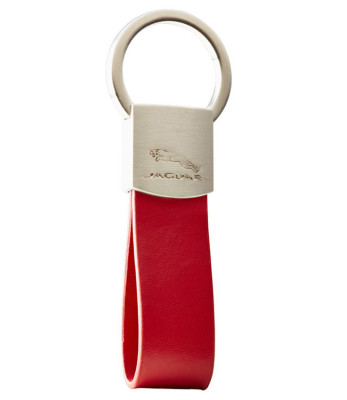 Брелок Jaguar Leather Loop Keyring Red