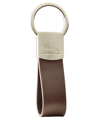 Брелок Jaguar Leather Loop Keyring Brown