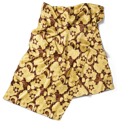 Шейный платок Volkswagen Ladies Silk Scarf, Yellow Brown
