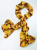 Шейный платок Volkswagen Ladies Silk Scarf, Yellow Brown, артикул 000084330D049