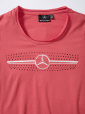 Женская футболка Mercedes Women's T-shirt, The radiator grille motif, Red, артикул B66954258