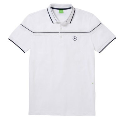 Мужская футболка поло Mercedes-Benz Men's Polo Shirt, Hugo Boss, White