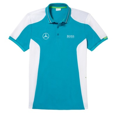 Мужская футболка поло Mercedes-Benz Men's Polo Shirt, Hugo Boss, Turquoise